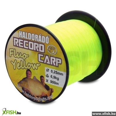 Haldorádó Record Carp Fluo Yellow 0,25 Mm / 900 M - 6,9 Kg