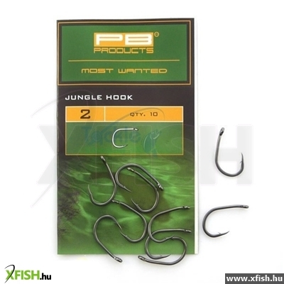 Pb Products Jungle Hook Size 2, Dull Finish, Brown Color, 10 Darab Bojlis Horog