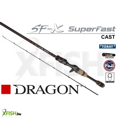 Dragon Sf-X Super Fast Cast 10-35G 195Cm Action: Extra Fast Power: Medium Heavy 2-Rész