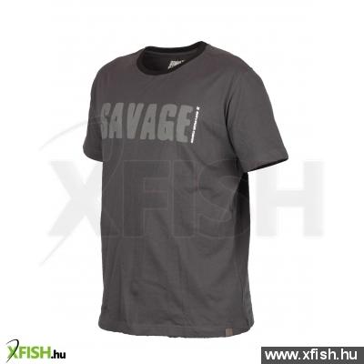 Savage Gear Simply Savage Tee Grey L Póló 272ee46c7f