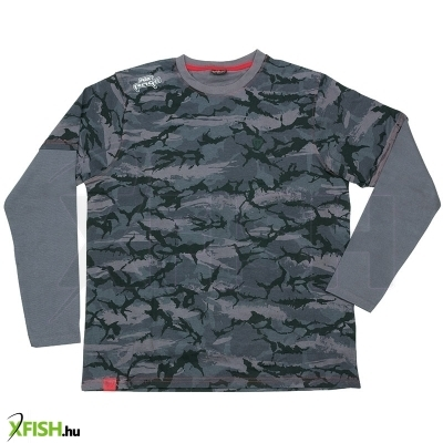 Fox Rage Rage Camo Long Sleeve Felső Xxxl