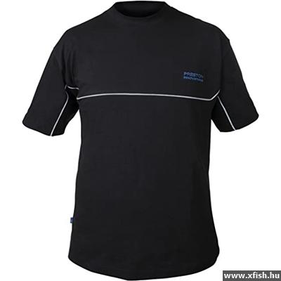 Preston Black T-Shirt galléros póló M 0835dde18f