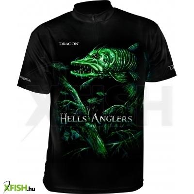Dragon Hells Anglers Póló Mez Csuka Mintával M-Méret 0aca828055