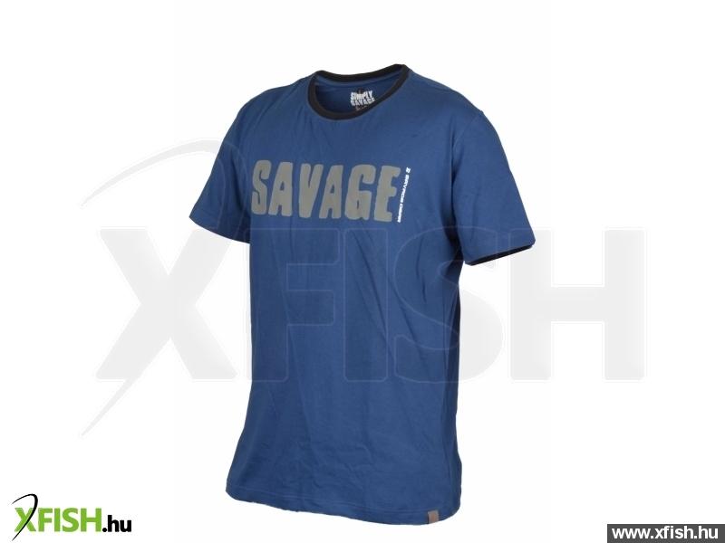 Savage Gear Simply Savage Tee Blue L póló  75a9cff189