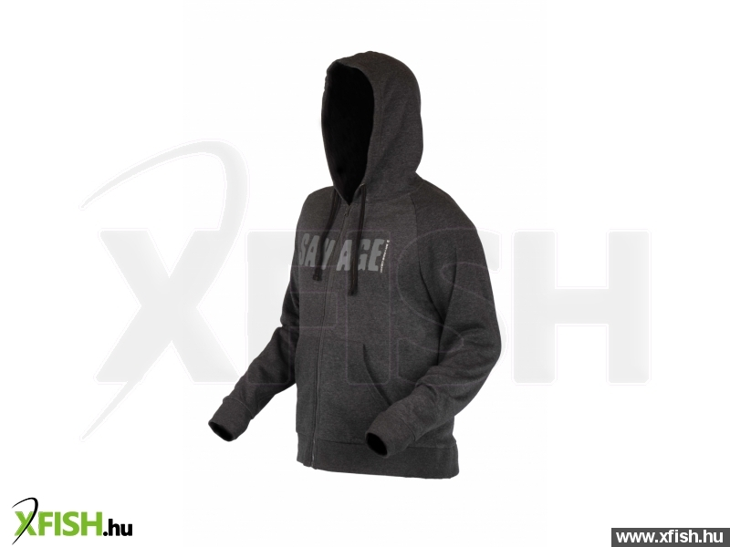 Savage Gear Simply Savage Zip Hoodie L Kapucnis Pulóver  d5dca8d910